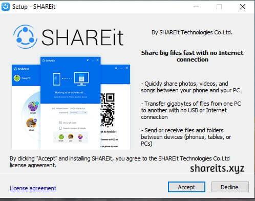 Click Accept SHAREit