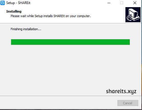 Wait for SHAREit Installation